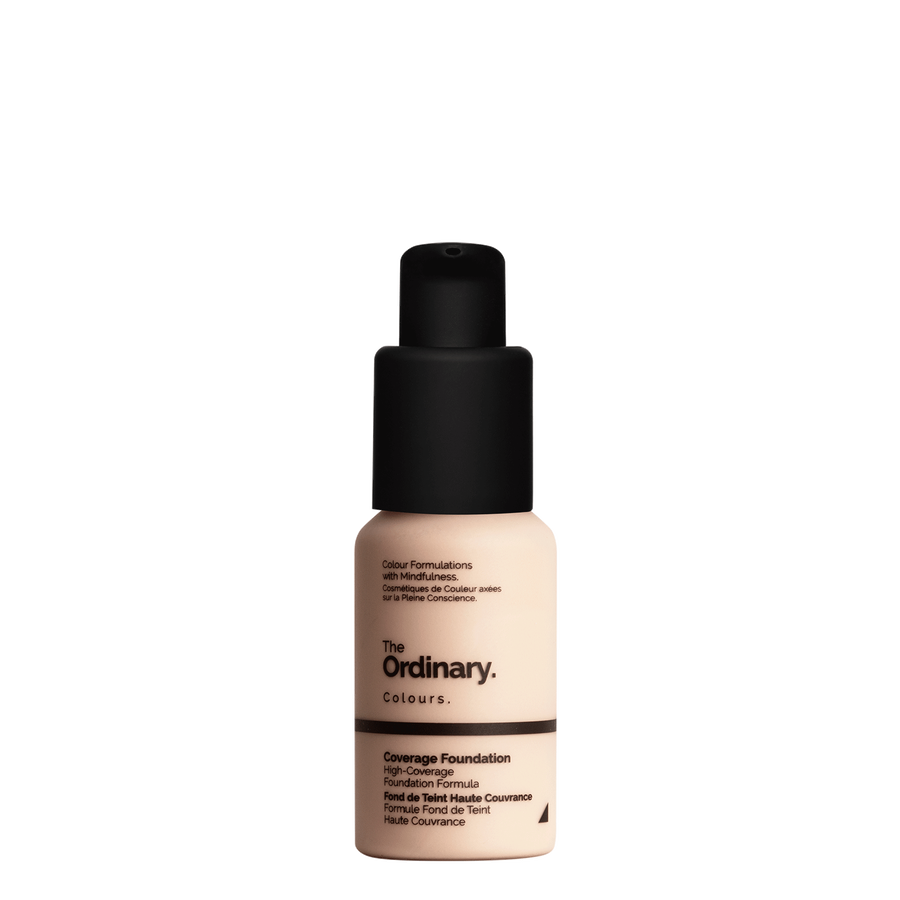 The Ordinary Bottle of The Ordinary Coverage Foundation 1.1 P fair with pink undertones