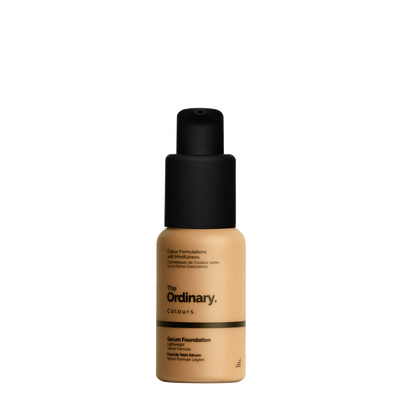 The Ordinary Bottle of The Ordinary Serum Foundation 3.0 Y medium dark with yellow undertones