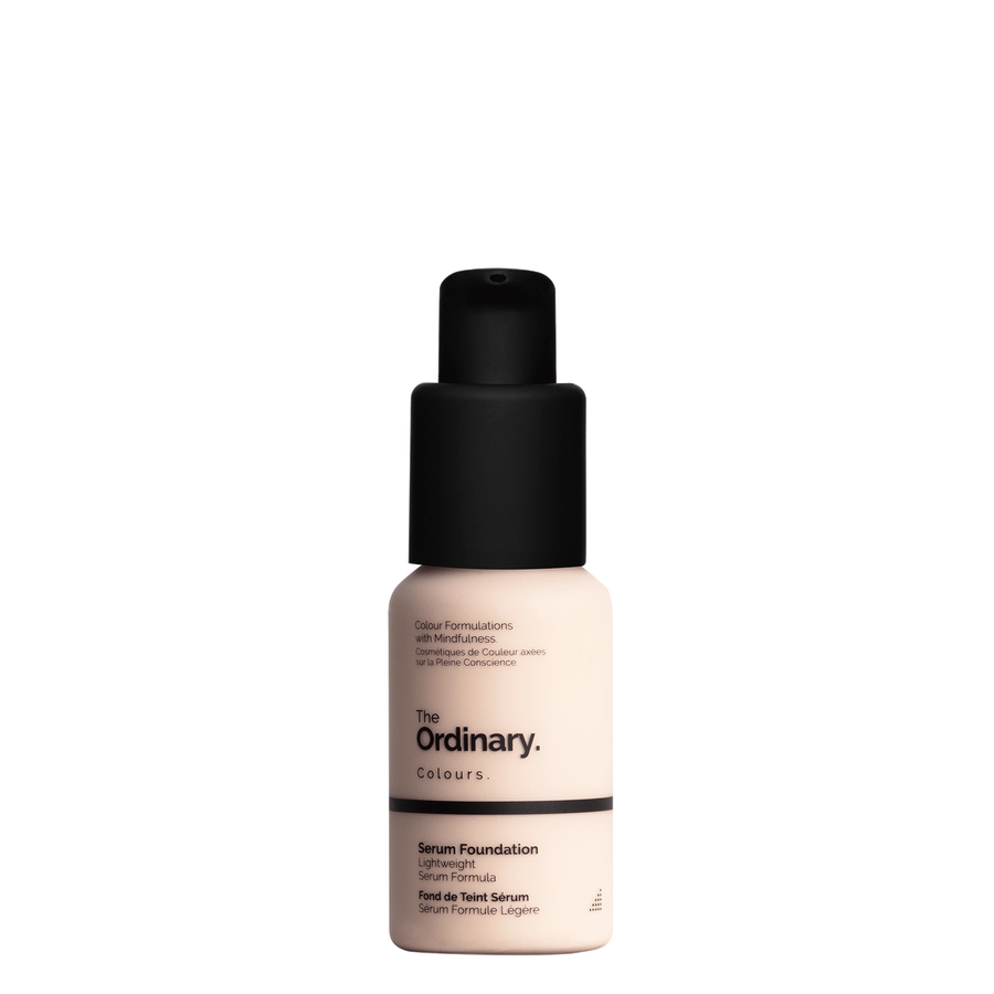 The Ordinary Bottle of The Ordinary Serum Foundation 1.0 P very fair with pink undertones
