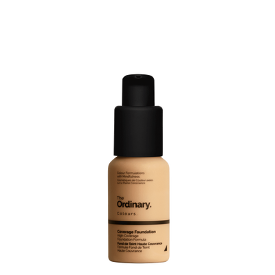 The Ordinary Bottle of The Ordinary Coverage Foundation 2.1 Y medium with yellow undertones
