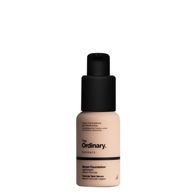 The Ordinary Bottle of The Ordinary Serum Foundation 1.0 NS very fair with neutral undertones and silver highlights