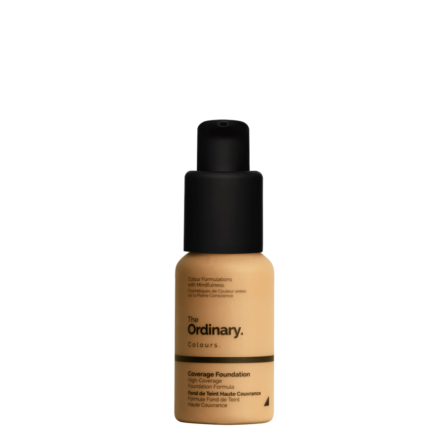 The Ordinary Bottle of The Ordinary Coverage Foundation 3.0 Y medium dark with yellow undertones