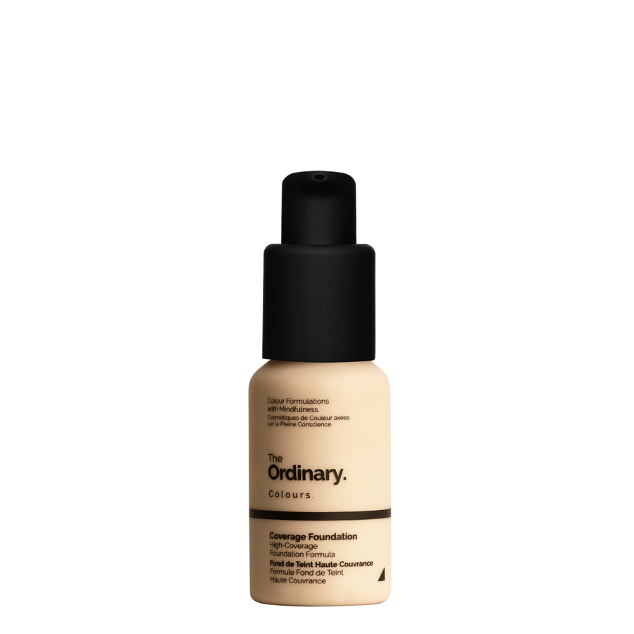 The Ordinary Bottle of The Ordinary Coverage Foundation 1.2 Y light with yellow undertones